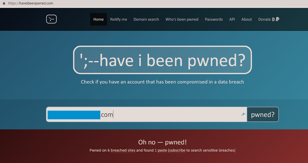 Haveibeenpwned email check pwned.png