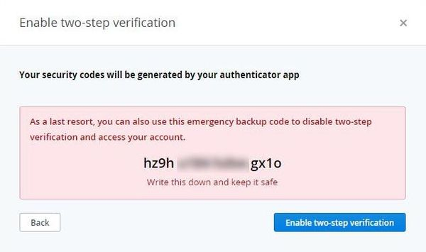 Dropbox Two Steps Authentication Backup Code.jpg