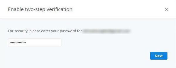Dropbox Two Steps Authentication Enable Confirm Password.jpg