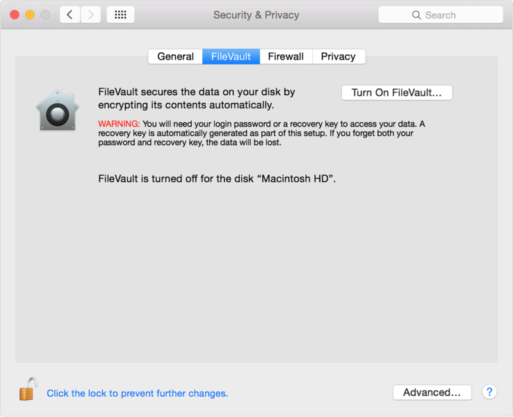 ملف:Yosemite-security and privacy-filevault tab.png