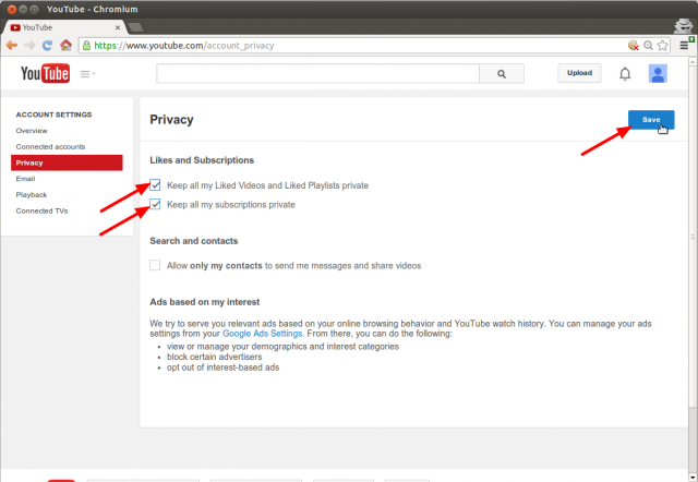 YouTube AccountSettings PrivacySettings Annotated.png