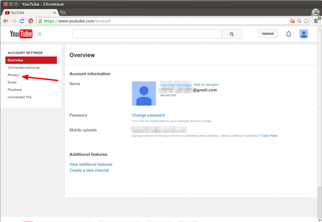 YouTube AccountSettings PrivacyAnnotated.png