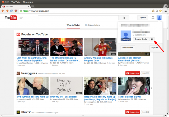 YouTube MainPage Account Settings.png